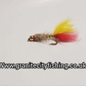 Fiery Gold Ribbed Gold Head Hare's Ear Nymph