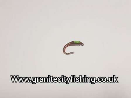 Flexi Floss Brown Lime green hot spot