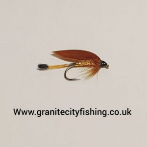 Cinnamon and Gold Wet Fly.