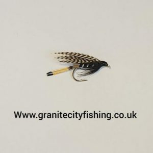 Teal and Black Wet Fly.