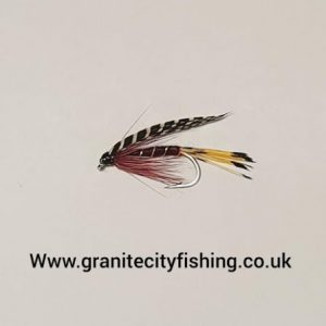 Teal & claret Wet Fly.