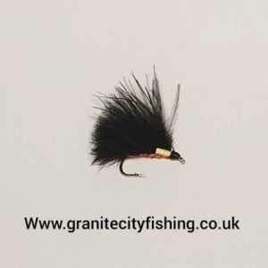 Orange Quill Cormorant trout fly.