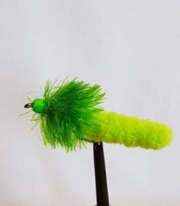 Green Wotsite Mop Green bead head #10