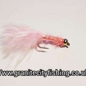 Gold Beaded Pink Micro Fritz