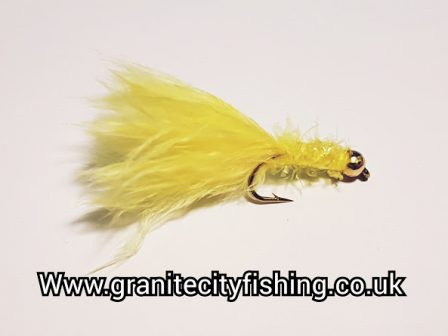 Gold Beaded Yellow Micro Fritz