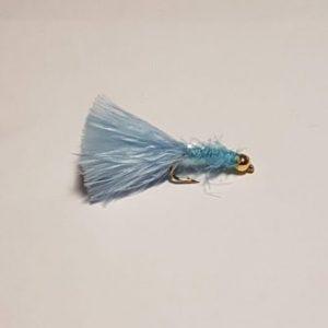 Light Blue Micro Fritz Gold Head
