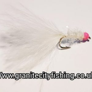 Pink Beaded White Micro Fritz