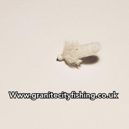 White Neon UV fritz mop fly.
