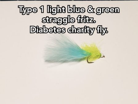 Type 1 Light Blue & Green Straggle Fritz. (Charity Fly)