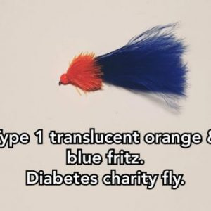 Type 1 Translucent Orange & Blue Fritz.