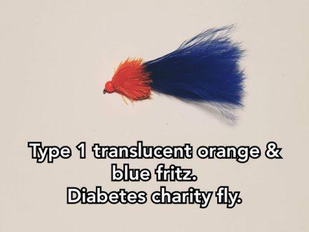 Type 1 Translucent Orange & Blue Fritz.