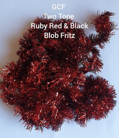 GCF Two tone Ruby Red & Black Blob Fritz