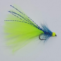 Blue & Chartreuse Dancer. Barbed or Barbless