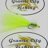 Chartreuse Dancer. Barbed or Barbless