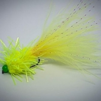 Green Hot Head Chartreuse Creeper. Barbed or Barbless
